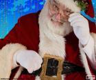 Santa Claus beobachtet