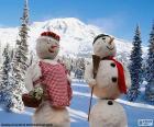 Ein paar Schneemänner