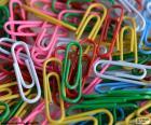 Büroklammern von Farben
