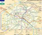 Karte von Paris Métro