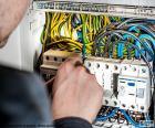 Elektriker, elektrischer Verteiler