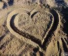 Herz am Strand