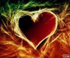 Ein brennendes Herz