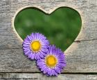 Herz und zwei Blumen