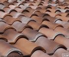 Keramische Dachziegel puzzle