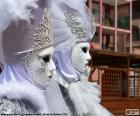 Weiße Masken puzzle