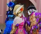 Klassische venezianische Kostüm puzzle