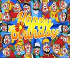 Happy Birthday mit clowns