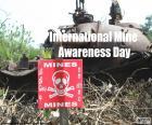 Internationaler Tag für meine Aufmerksamkeit und Unterstützung von Antiminenprogrammen