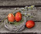 Ein Nest von Ostern