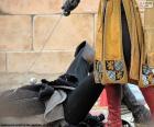 Duell zwischen mittelalterlichen Ritter