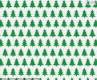 Weihnachts-Bäume-Papier