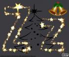 Der Brief aus groß- und Kleinbuchstaben Z mit sterne