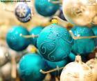 Elegante Weihnachtskugeln