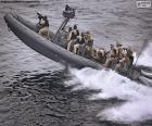 Militärische Schlauchboot