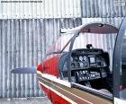Kontrollen von einem Kleinflugzeug