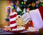 Santa Claus und Süßigkeiten