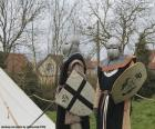 Zwei Soldaten des Mittelalters