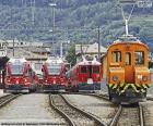 Züge am Bahnhof