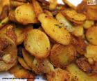 Geschnittene Pommes frites