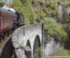 Zug durch ein Viadukt