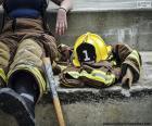 Feuerwehrmann ruht