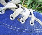 Blauer Schuh