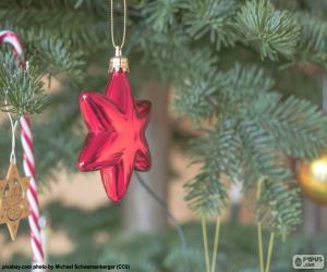 Red Weihnachtsstern puzzle