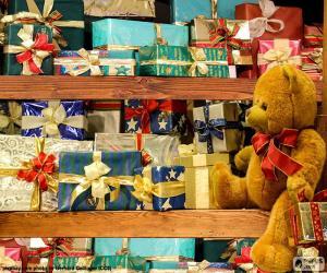 Regale voller Geschenke puzzle