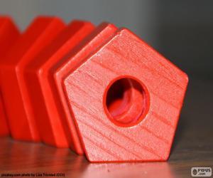 Regelmäßiges Fünfeck puzzle