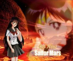 Rei Hino verwandelt sich in Sailor Mars puzzle
