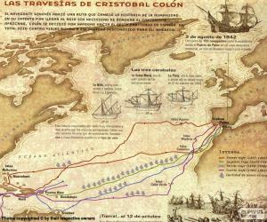 Reisen von Christoph Kolumbus puzzle