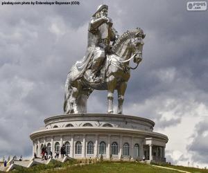 Reiterstatue von Dschingis Khan, Mongolei puzzle