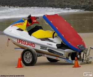 Rettungsschwimmer Wasserscooter puzzle