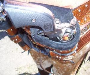Revolver, eingehüllt in die holster puzzle