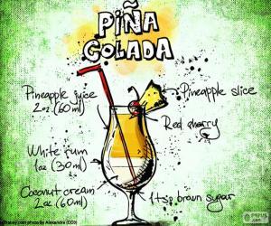 Rezept für Piña Colada puzzle