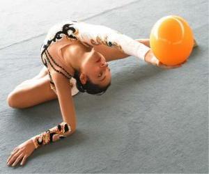 Rhythmische sportgymnastik - Ball exercise puzzle