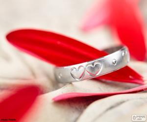 Ring mit zwei Herzen puzzle