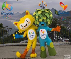 Rio 2016 Olympischen Maskottchen puzzle