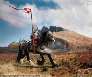 Ritter zu Pferd puzzle