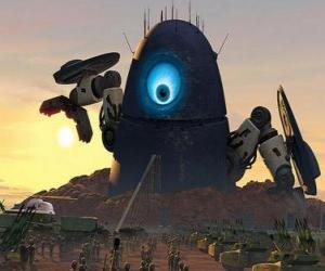 Robot Probe, der roboter alien puzzle
