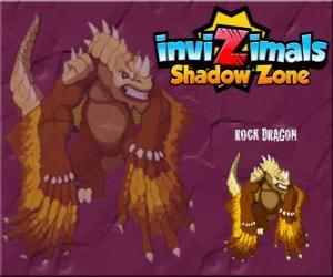 Rock Dragon. Invizimals Schattenzone. Rock-Drachen leben in den Kratern der Vulkane puzzle