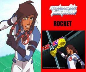 Rocket ist der Kapitän der Fußballmannschaft Galactic Snow-Kids mit der Nummer 5 puzzle