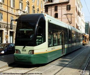 Rom-Straßenbahn puzzle