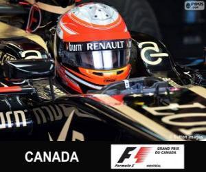Romain Grosjean - Lotus - Circuit Gilles Villeneuve Montreal, 2013 puzzle