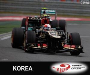 Romain Grosjean - Lotus - Großer Preis von Korea 2013, 3. klassifiziert puzzle
