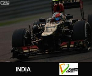 Romain Grosjean - Lotus - Großer Preis Indien 2013, 3. klassifiziert puzzle