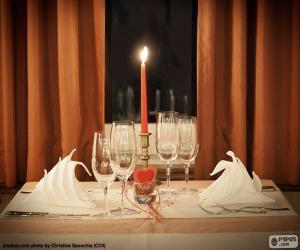 Romantisches Abendessen puzzle