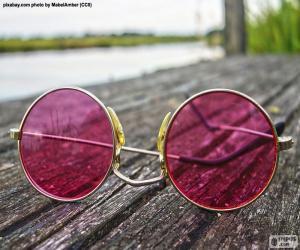 Rosa Sonnenbrille puzzle