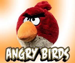Rot Vogel (Red Bird), verursachen große rote Vögel erhebliche Schäden aufgrund seines Gewichts puzzle